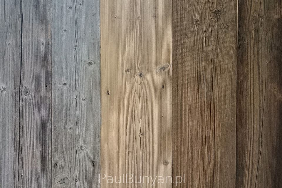 Szare deski ścienne de starego drewna