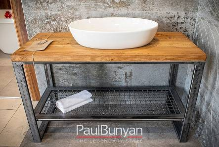 Bathroom cabinets from reclaimed wood