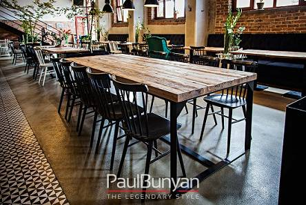 Tables for restaurants and cafes