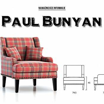 Fotel do salonu PAUL BUNYAN