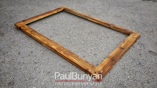 Old wooden frame for painting - dark brown