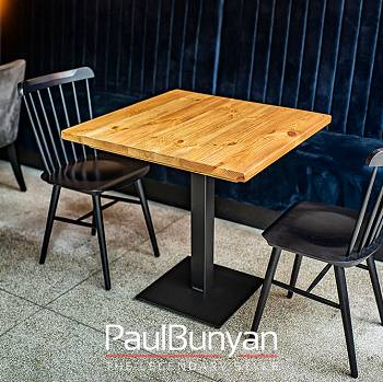 Table made of old wood for restaurant or cafe