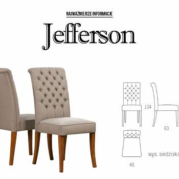 JEFFERSON dining room and living room chair