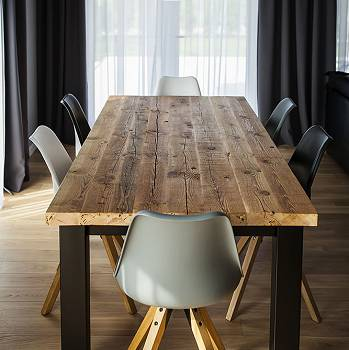 CHICAGO industrial reclaimed wood dining table