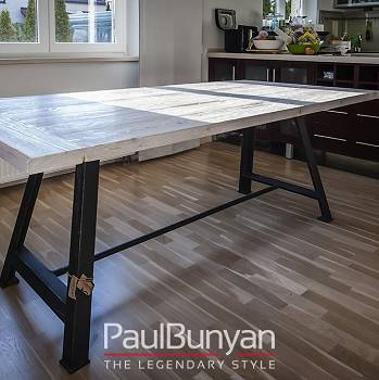 Reclaimed old wood kitchen table MINNESOTA