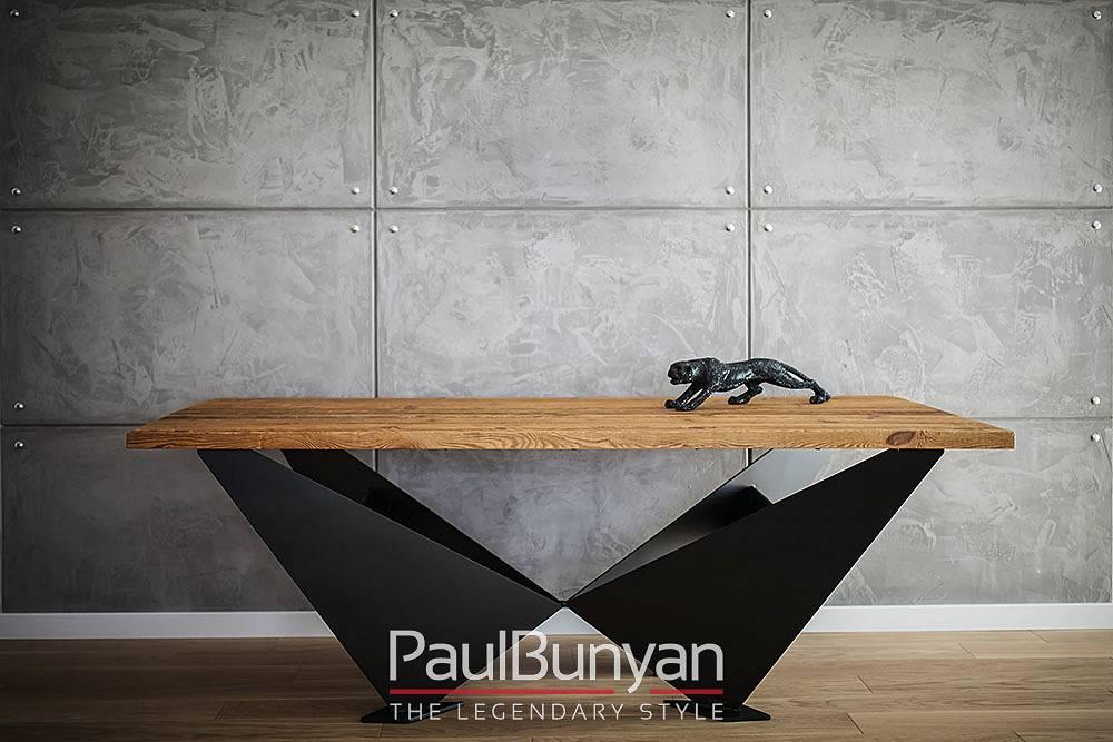Stół ze starego drewna i metalu BROOKLYN