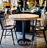 Okrągły Stolik Kawowy Ze Starego Drewna Do Restauracji Lub Kawiarni