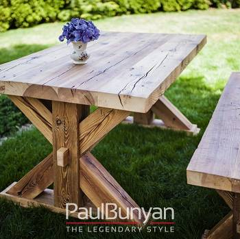 Reclaimed dining and garden table TEXAS